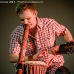 Philipp Gerisch Live in Schkopau, 2012. (Foto: Martin Rasinski)