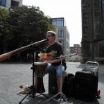 Philipp Gerisch - Straßenmusik in Halle, 2012.