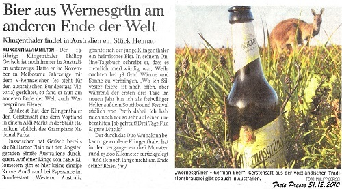 Freie Presse 31.12.2010