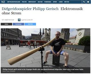 Mitteldeutsche Zeitung: Elektromusik ohne Strom - Vorschaubild