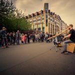 Philipp Gerisch - Straßenmusik in Leipzig, 2018. (Foto: Philipp Mundil)